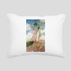 Claude Monet's Woman wit Rectangular Canvas Pillow
