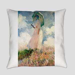 Claude Monet's Woman with a Paraso Everyday Pillow