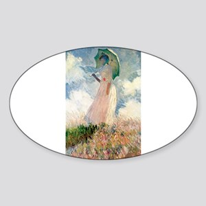 Claude Monet's Woman with a Parasol, Study Sticker