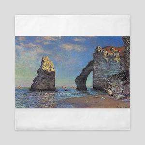 Claude Monet's The Cliffs at Etretat Queen Duvet