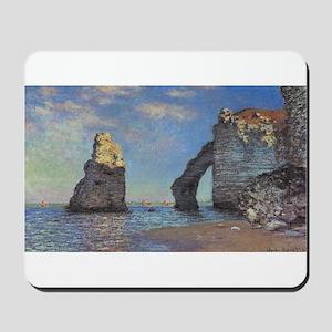 Claude Monet's The Cliffs at Etretat Mousepad