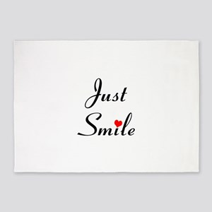 Just Smile 5'x7'Area Rug