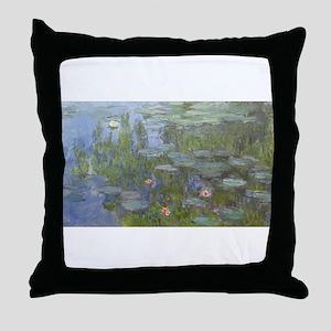 Claude Monet's Nympheas Throw Pillow