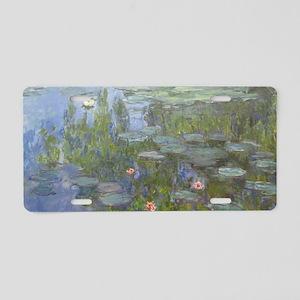 Claude Monet's Nympheas Aluminum License Plate