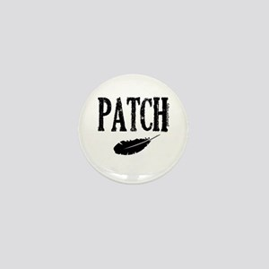 patch with feather trans Mini Button