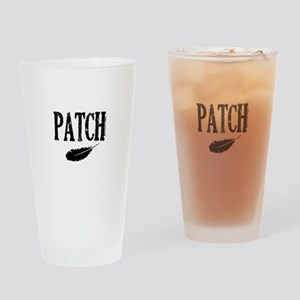 patch with feather trans Drinking Glass