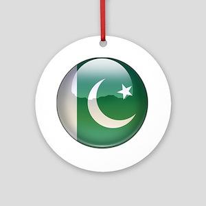 Pakistan Flag Jewel Ornament (Round)