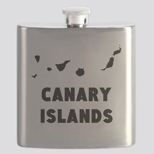 Canary Islands Silhouette Flask