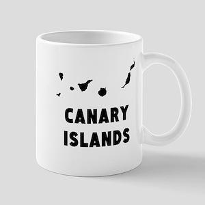 Canary Islands Silhouette Mugs