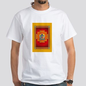 Blue Medicine Buddha White T-Shirt