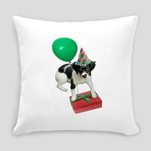 Puppy Birthday Balloon Everyday Pillow
