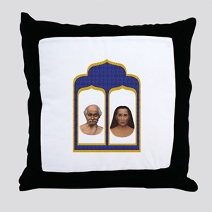 Lahiri Mahasaya and Mahavatar Babaji Throw Pillow