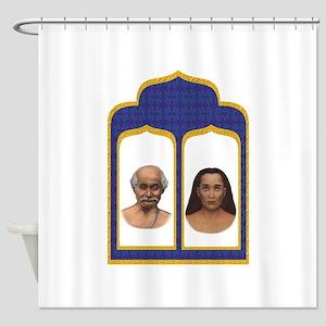 Lahiri Mahasaya and Mahavatar Babaji Shower Curtai