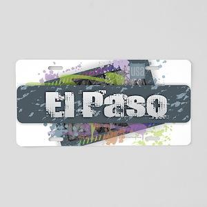 El Paso Design Aluminum License Plate
