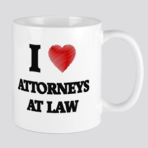 I love Attorneys At Law (Heart made from word Mugs