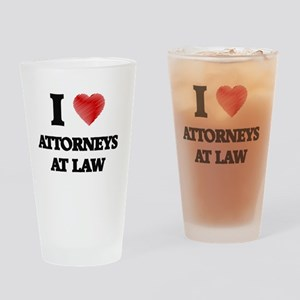 I love Attorneys At Law (Heart made Drinking Glass