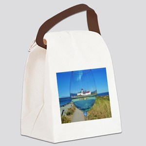 Wineglass Canvas Lunch Bag