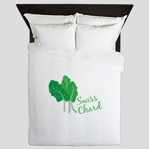 Swiss Chard Greens Queen Duvet