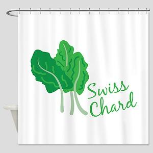 Swiss Chard Greens Shower Curtain