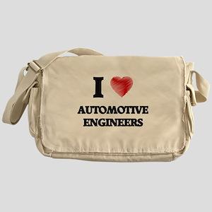 I love Automotive Engineers (Heart m Messenger Bag