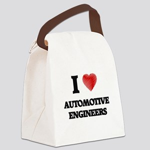 I love Automotive Engineers (Hear Canvas Lunch Bag