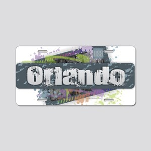 Orlando Design Aluminum License Plate