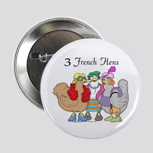 3 French Hens Button