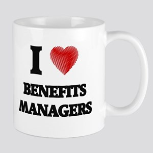 I love Benefits Managers (Heart made from wor Mugs