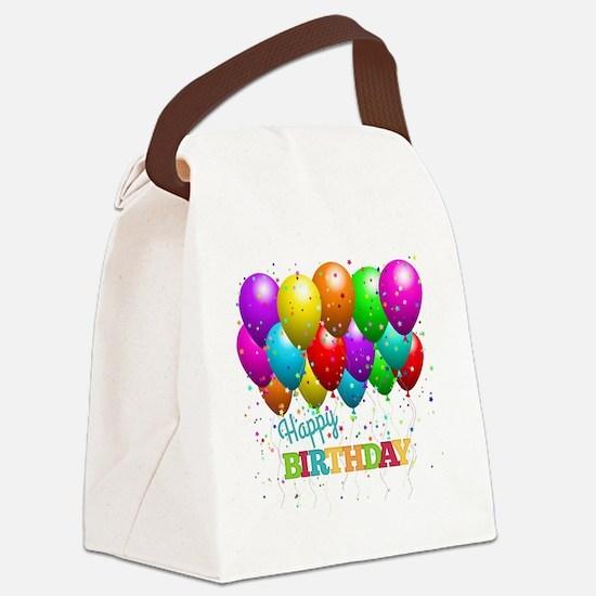 Cute Happy birthday Canvas Lunch Bag