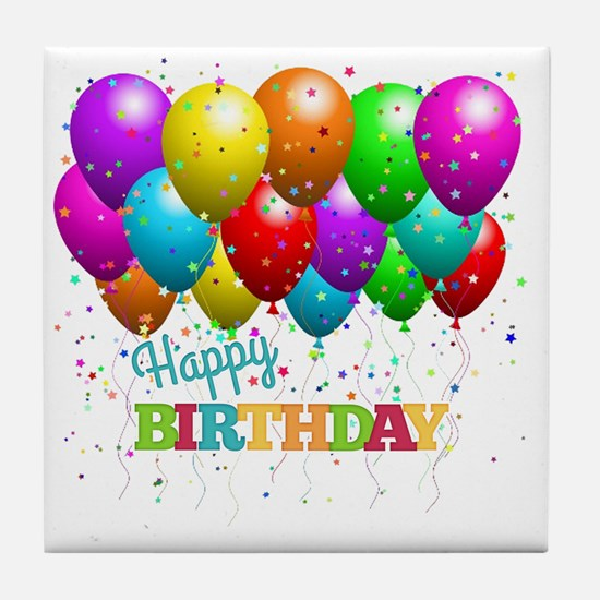 Cute Birthday party Tile Coaster