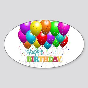 Trendy Happy Birthday Balloons Sticker