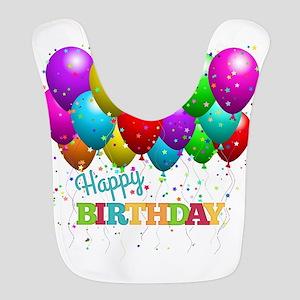Trendy Happy Birthday Balloons Bib