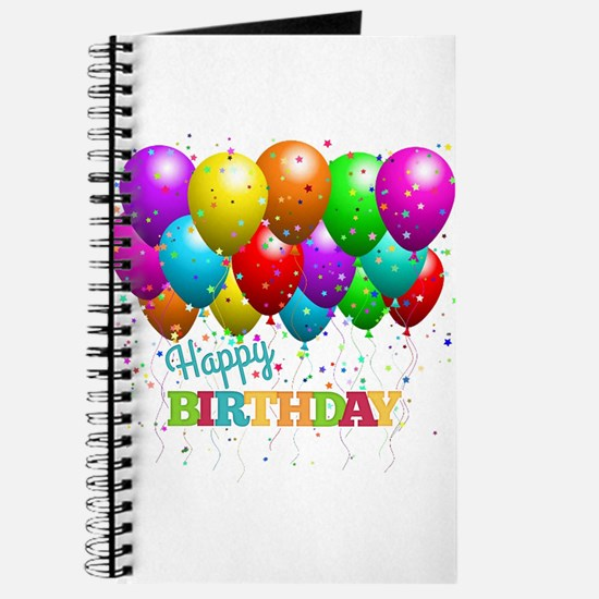Trendy Happy Birthday Balloons Journal