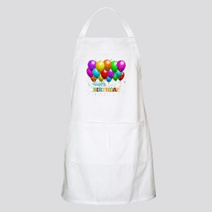 Trendy Happy Birthday Balloons Apron