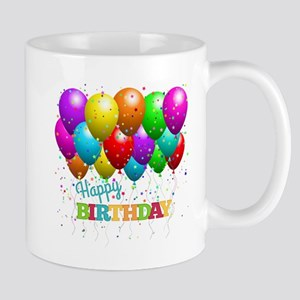 Trendy Happy Birthday Balloons Mugs
