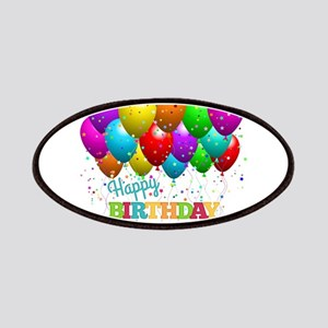Trendy Happy Birthday Balloons Patch