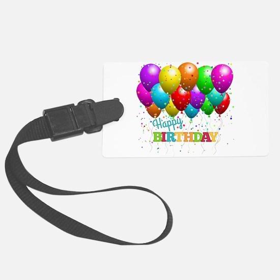 Trendy Happy Birthday Balloons Luggage Tag