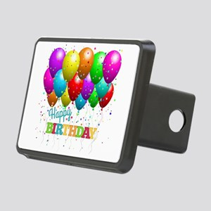 Trendy Happy Birthday Ball Rectangular Hitch Cover