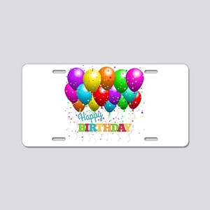 Trendy Happy Birthday Ballo Aluminum License Plate