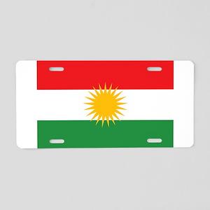 Flag of Kurdistan (Alay Kur Aluminum License Plate