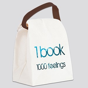 1 book 1000 feelings blue Canvas Lunch Bag