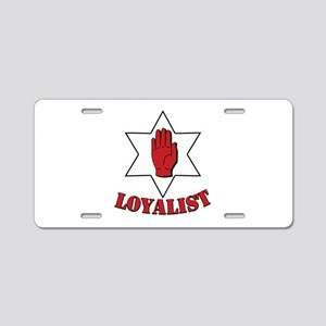 Ulster Loyalist Aluminum License Plate