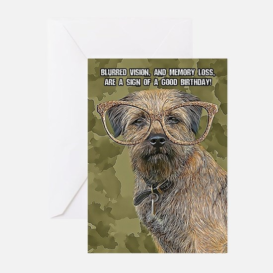 Border Terrier Birthday Greeting Cards (pk Of 10)