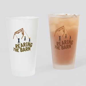Rearing the Barn Drinking Glass
