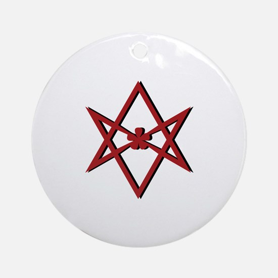 Thelema Symbol Round Ornament