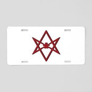 Thelema Symbol Aluminum License Plate