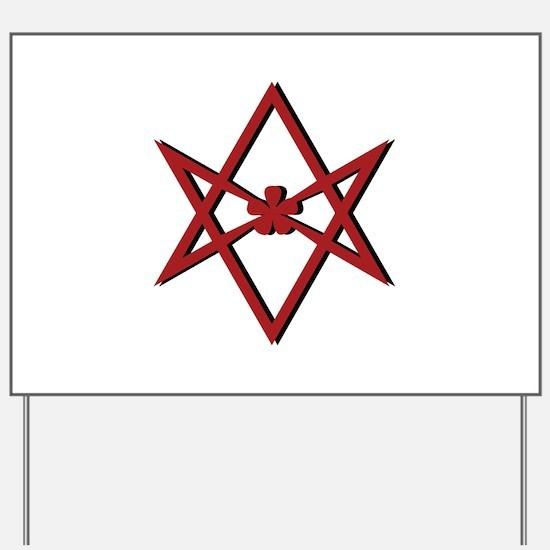 Thelema Symbol Yard Sign