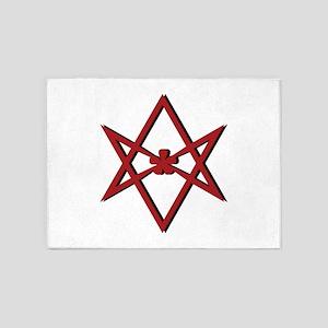 Thelema Symbol 5'x7'Area Rug