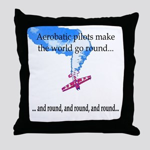The world goes round... Throw Pillow