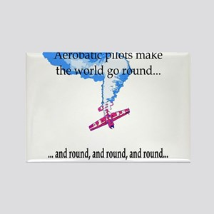 The world goes round... Rectangle Magnet